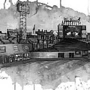 Fenway Bw Art Print by Michael  Pattison