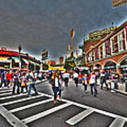 Fenway Park And Cask And Flagon Art Print