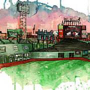 Fenway Park Art Print by Michael  Pattison