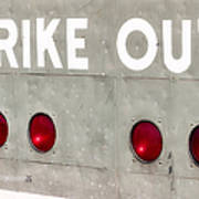 Fenway Park Strike - Out Scoreboard  Art Print