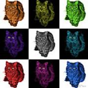Feral Cat - 9905 F M -v2 Art Print