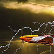 Ferocious Frankie In A Storm Art Print by Meirion Matthias