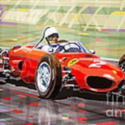 Ferrari 156 Dino British Gp1962 Phil Hill Art Print