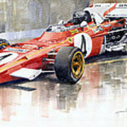 1971 Ferrari 312 B2 1971 Monaco Gp F1 Jacky Ickx Art Print