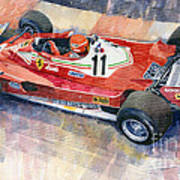 Ferrari 312 T2 Niki Lauda 1977 Monaco Gp Art Print