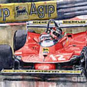 Ferrari  312t4 Gilles Villeneuve Monaco Gp 1979 Art Print