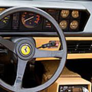 Ferrari 3.2 Mondial Cabriolet Interior Art Print