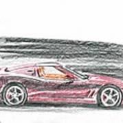 Ferrari 550 Art Print