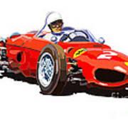 Ferrari Dino 156 1962  Art Print