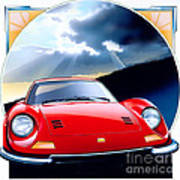 Ferrari Dino Art Print