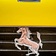 Ferrari Dino Grille Emblem -0750c Art Print