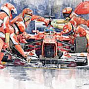 2012 Ferrari F 2012 Fernando Alonso Pit Stop Art Print