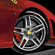 Ferrari Front End Art Print