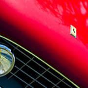 Ferrari Grille Emblem - Headlight Art Print