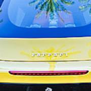 Ferrari Rear Emblem -0062c Art Print
