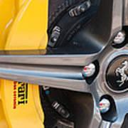 Ferrari Wheel - Brake Emblem Art Print
