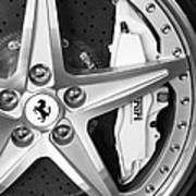 Ferrari Wheel Emblem Art Print