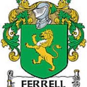 Ferrell Coat Of Arms Longford Ireland Art Print