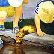 Ferret And Friends Art Print