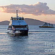 Ferries At Sunset Art Print