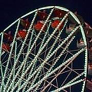 Ferris Wheel After Dark Art Print