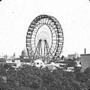 Ferris Wheel At Chicago Worlds Fair Columbian Exposition 1893 Art Print