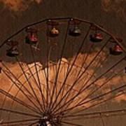 Ferris Wheel At Twilight Art Print