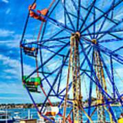 Ferris Wheel - Balboa Fun Zone Art Print