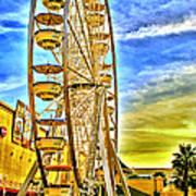 Ferris Wheel In Lb Art Print
