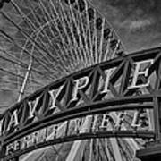 Ferris Wheel Navy Pier Art Print