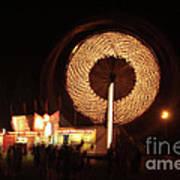 Ferris Wheel Spin Art Print