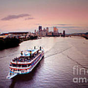 Ferry Boat At The Point In Pittsburgh Pa Art Print