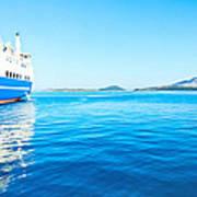 Ferry Boat On Port Art Print