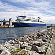 Ferry From North Sydney-ns To Argentia-nl Art Print