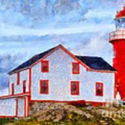 Ferryland Lighthouse In Newfoundland Art Print