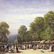 Festival At St. Cloud, C.1860 Art Print