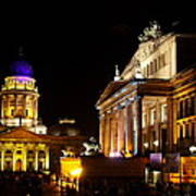 Festival Of Lights Gendarmenmarkt Berlin Art Print