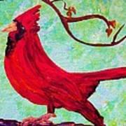 Festive Cardinal Art Print