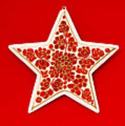 Festive Star Art Print
