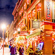 Festive Streets Of Old Quebec Art Print by Mark Tisdale