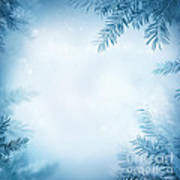 Festive Winter Background Art Print