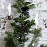 Festive Xmas Table Art Print
