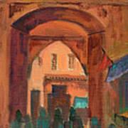 Fez Town Scene Art Print