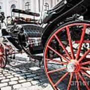 Fiaker Carriage In Vienna Art Print