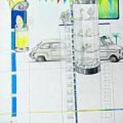 Fiat Cinquecento Art Print
