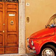 Fiat Parking Art Print