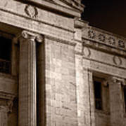 Field Museum Of Chicago Bw Number 2 Art Print