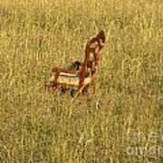 Field Of Chair Art Print