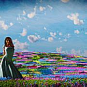 Field Of Flowers... Art Print