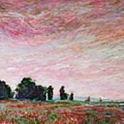 Field Of Red Poppies Art Print